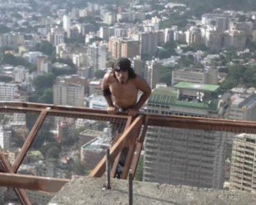 Homem Faz Extremo Exercício Físico Em Edifício De 60 Andares Sem Equipamento De Segurança 1