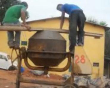 Trabalhadores Da Construção Inventam Nova Função Para Uma Betoneira 2