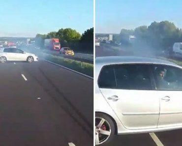 Motorista e Passageiros Vivem Grande Momento De Suspense Ao Quase Colidirem Com Carro Descontrolado 2