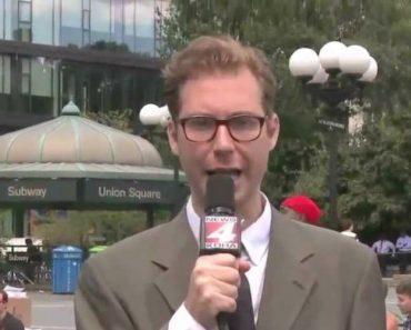 Jovem Puxa As Calças Ao Jornalista Durante Emissão Em Direto! 4