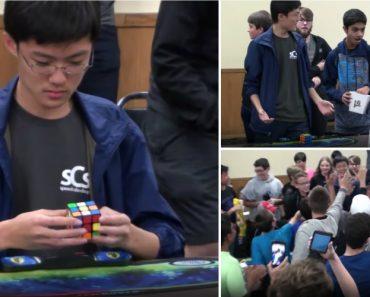 Resolveu o Cubo De Rubik Em 4,59 Segundos e Estabeleceu Um Novo Recorde Mundial 5