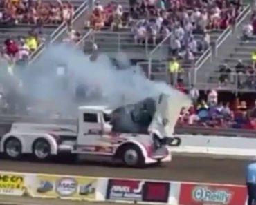 Motor De Camião Explode Ao Tentar Puxar Trator 3
