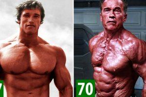 A Transformação De Arnold Schwarzenegger Desde Bebé Até Aos 70 Anos 9