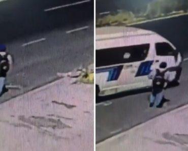 Perigoso Buraco Na Estrada Faz Desaparecer Homem Que Se Preparava Para Entrar Em Veículo 3