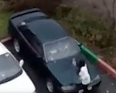 Mulher Furiosa Usa Frigideira Para Destruir Carro Do Ex-marido 9
