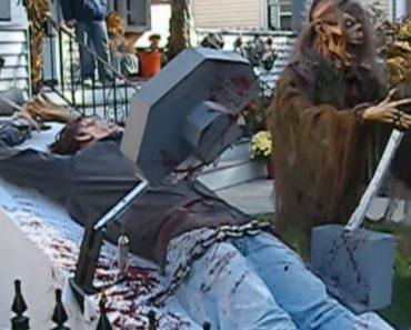 Homem Faz a Mais Arrepiante e Realista Recreação Para o Halloween 6