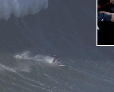 Surfista Andrew Cotton Lesiona As Costas Numa Queda Impressionante Nas Ondas Gigantes Da Nazaré 3