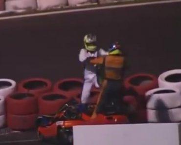 Pilotos De Karting Protagonizam Cena De Pancadaria Durante Corrida 6