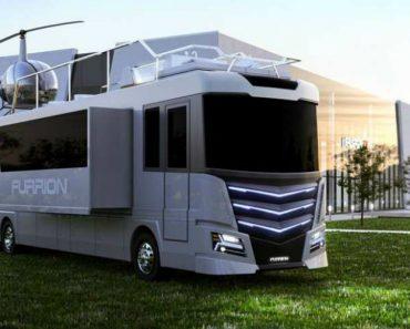 """Esta """"Auto-Caravana"""" Custa 3 Milhões De Dolares, e Até Tem Um Helicóptero 6"""