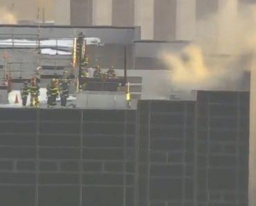 Incêndio Consome Topo Da Trump Tower Em Nova Iorque 5