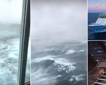 """""""Foi Um Inferno"""": Passageiros Filmam Passagem De Cruzeiro Por 'Ciclone Bomba' 3"""
