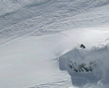 Esquiador Escapa De Avalanches e Ainda Dá Mortal Durante Fuga 1
