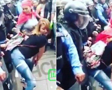 Mulheres Fazem Dança Provocatória Aos Polícias Durante Manifestação 3