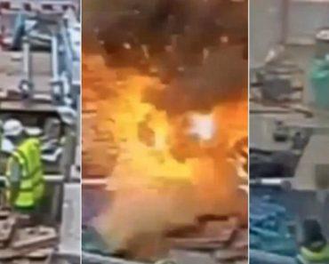 Trabalhador Causa Tremenda Explosão Ao Perfurar Com Martelo Pneumático Cabo Elétrico De 11 000 Volts 1