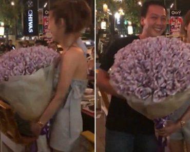 Mulher Oferece Ao Namorado Buquê De 'Flores' Feito Com Notas De Dinheiro Como Presente De Aniversário 6
