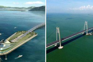 China Mostra a Maior Ponte Marítima Do Mundo Com 55 Quilómetros 16