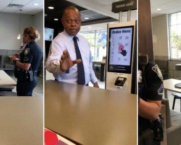 Polícia Obriga Sem-Abrigo a Deixar o McDonald's Depois De Um Estranho Lhe Pagar a Comida 1