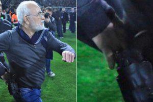 Presidente De Clube Grego Invadiu o Relvado... Com Uma Pistola 10