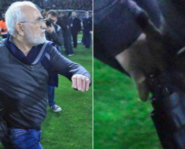 Presidente De Clube Grego Invadiu o Relvado... Com Uma Pistola 7