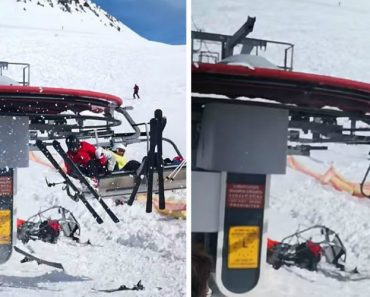 Esquiadores Vivem Pesadelo Ao Serem Violentamente Projetados Por Descontrolado Telesqui 7