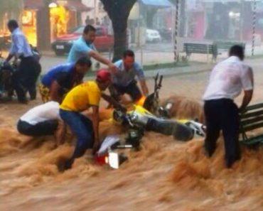 Chuva Provoca Inundação, Arrasta Carros e Deixa Pessoas Isoladas Em Belo Horizonte 1