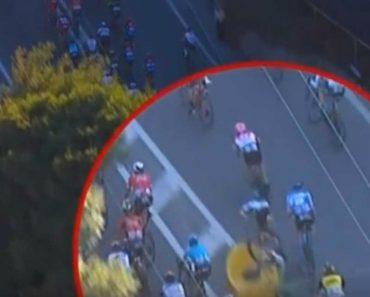Ciclista Sai Disparado Da Bicicleta Ao Sofrer Aparatoso Acidente Durante a Prova 6
