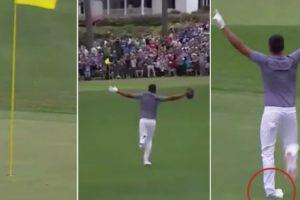 Jogador De Golfe Faz Tacada Direta Ao Buraco, Desloca o Tornozelo, e Volta a Colocá-lo No Sítio 10