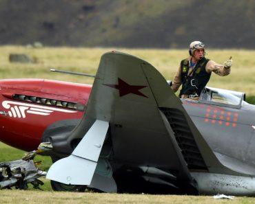 Caça Perde a Asa Durante Aterragem Ao Embater Em Improvável Obstáculo 9