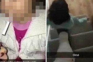 Grava Vídeo Enquanto Empurra Criança Pelas Escadas Após Dar-lhe Um Cigarro 9