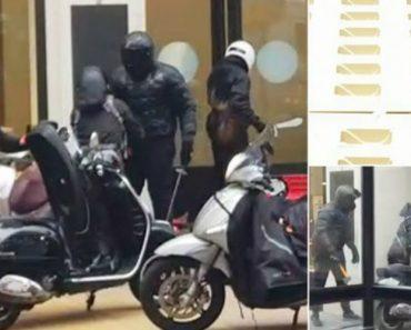 Grupo De Assaltantes Filmado a Invadir Descaradamente Relojoaria Em Plena Luz Do Dia 8
