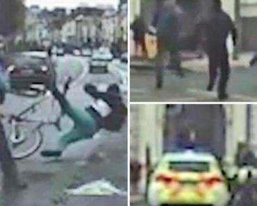 Pedestres Derrubam Homem Armado Que Tentava Escapar de Perseguição Policial Numa Bicicleta 2
