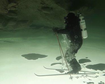 Homem Preparou-se Durante 1 Ano Para Conseguir Esquiar De Cabeça Para Baixo Debaixo Do Gelo 1