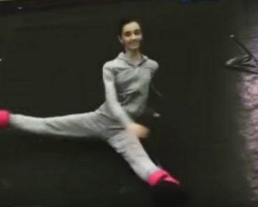 Bailarina Com Extraordinária Flexibilidade Mostram Como São Os Seus Exercícios De Aquecimento 3