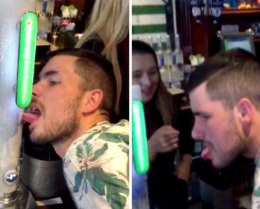 Durante Brincadeira Em Bar, Homem Fica Com a Língua Presa Na Torneira De Cerveja 2