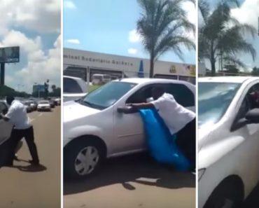 Condutor Perde a Cabeça Com Carros Que Estacionaram Em Segunda Fila 3