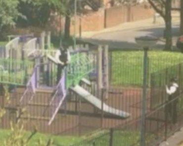 Polícias São Apanhados a Brincar Num Parque Infantil 9
