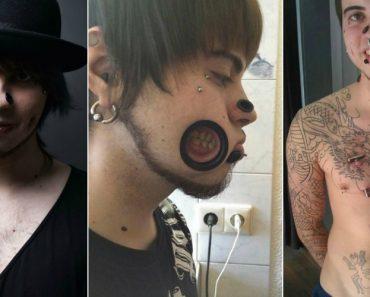 A Transformação Extrema De Um Jovem Viciado Em Piercings e Alargadores 8