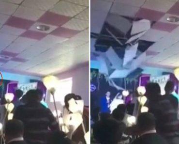 Noiva Provoca Desabamento Do Teto Após Lançar Bouquet 21