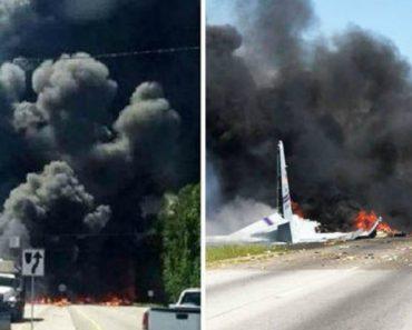 Imagens Impressionantes Mostram a Queda De Avião Militar Provocando a Morte De Cinco Pessoas 1