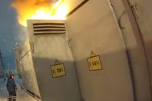 Curto-Circuito Provoca Explosão e Incêndio Em Transformador Elétrico 10
