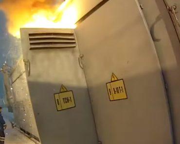 Curto-Circuito Provoca Explosão e Incêndio Em Transformador Elétrico 4