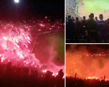 Assim Comemoraram Os Adeptos De Uma Equipa Da Argélia a Subida à 2ª Divisão 1