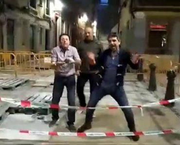 """Espanhol Embriagado """"Desaparece"""" Enquanto Brinca Com Os Amigos Numa Obra 1"""