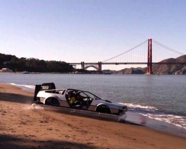 """Homem Transforma Carro DeLorean Do Filme """"Regresso Ao Futuro"""" Em HoverCraft 6"""