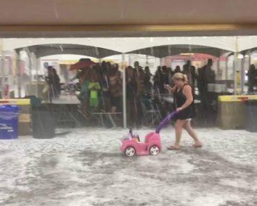 População Tenta Fugir Como Pode De Forte Chuva De Granizo 5