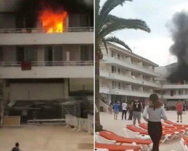 Incêndio Em Hotel Em Magaluf Provoca o Caos 8