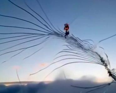Imagens Gravadas Durante Voo Mostram a Crescente Rachadura Que Se Forma No Para-Brisas De Avião 7