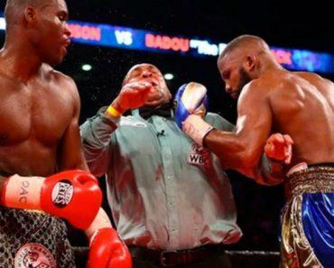 Juiz Leva Murro Acidental Na Cara Ao Tentar Separar Lutadores De Boxe 3