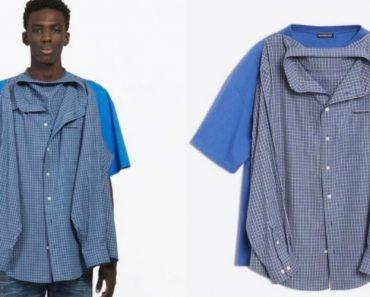 Camisa Ou T-Shirt? Balenciaga Lança Duas Camisas Numa Só Que Custa 1 000 Euros 7