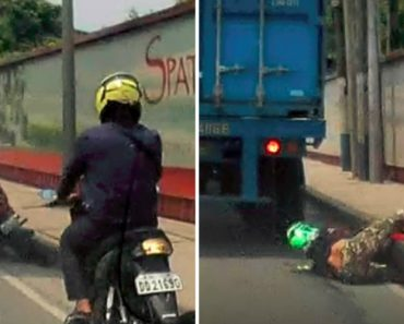 Capacete Salva Vida De Motociclista Que Caiu Debaixo De Camião 3
